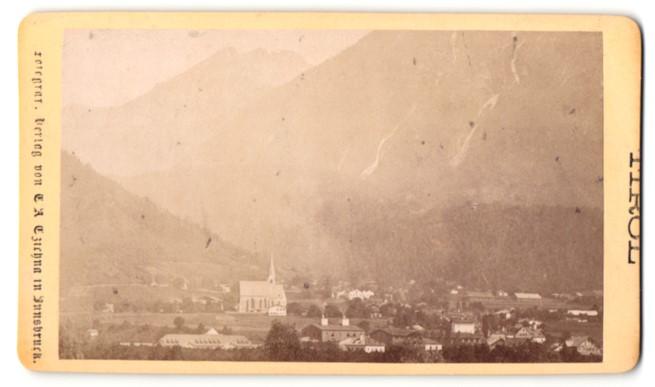 Fotografie Atelier Czichna, Innsbruck, Ansicht Jenbach / Unterinnthal, Ortsansicht mit Kirche 0