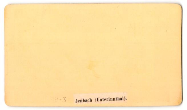 Fotografie Atelier Czichna, Innsbruck, Ansicht Jenbach / Unterinnthal, Ortsansicht mit Kirche 1
