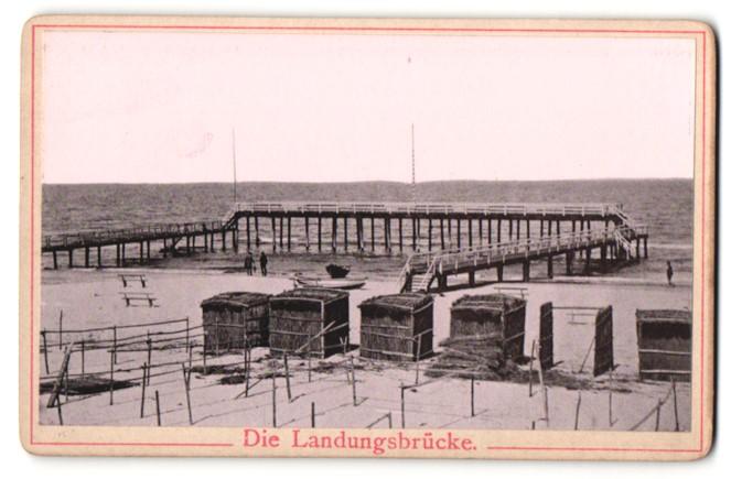 Fotografie Fotograf unbekannt, Ansicht Heringsdorf, die Landungsbrücke