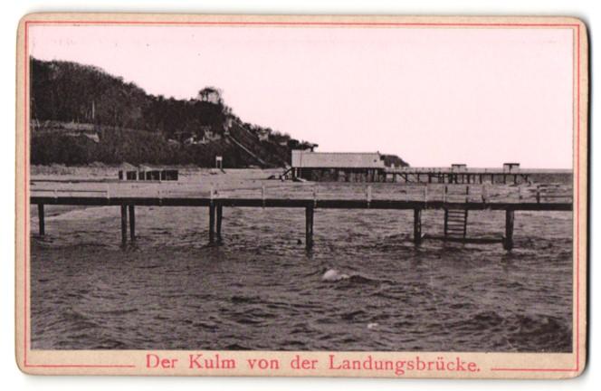 Fotografie Fotograf unbekannt, Ansicht Heringsdorf, der Kulm von der Landungsbrücke