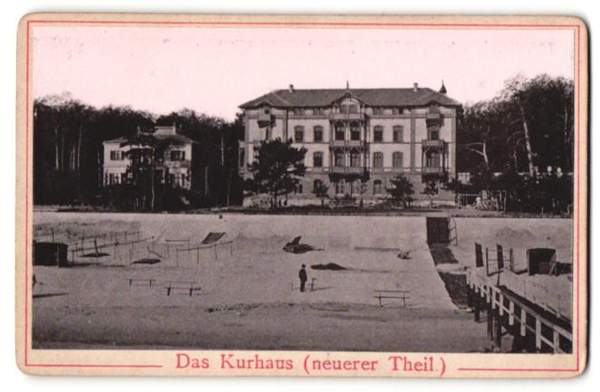 Fotografie Fotograf unbekannt, Ansicht Heringsdorf, Kurhaus neuerer Teil