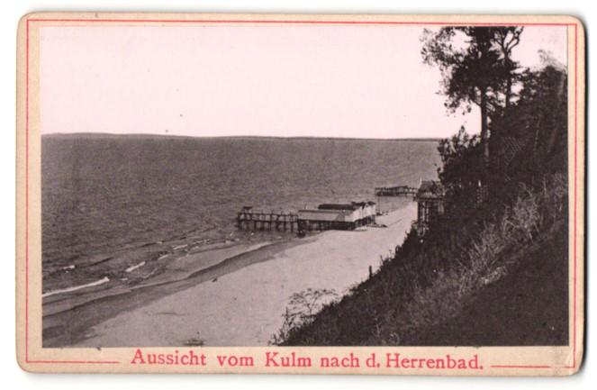 Fotografie Fotograf unbekannt, Ansicht Heringsdorf, Aussicht vom Kulm nach dem Herrenbad