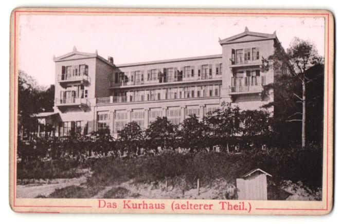 Fotografie Fotograf unbekannt, Ansicht Heringsdorf, das Kurhaus älterer Teil