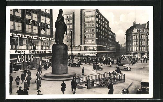 AK Berlin, Alexanderplatz mit Berolina am späteren Standort der Weltzeituhr
