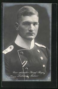 Foto-AK Sanke Nr. 379: Leutnant Mulzer, Kampfflieger