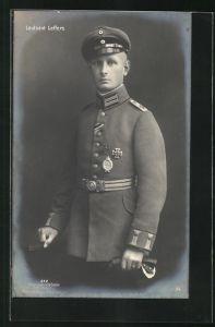 Foto-AK Sanke Nr. 372: Leutnant Leffers, Kampfflieger