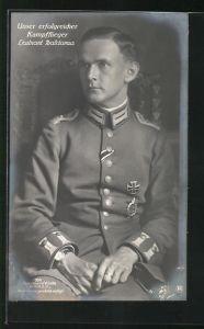 Foto-AK Sanke Nr. 390: Leutnant Baldamus, Kampfflieger