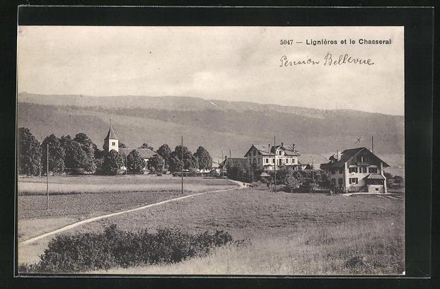 AK Lignières, Panorama et le Chasseral