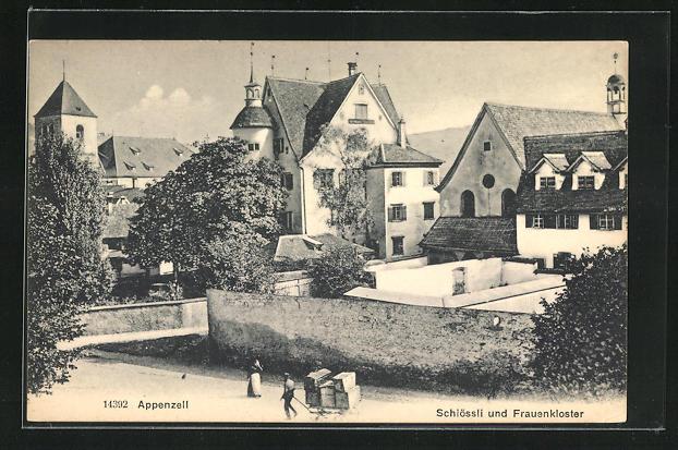 AK Appenzell, Schlössli und Frauenkloster