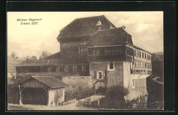 AK Amriswil, Schloss Hagenwil, erbaut 1127