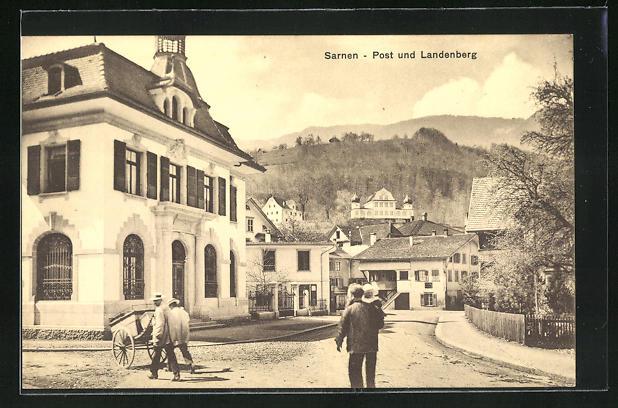 AK Sarnen, Postamt und Landenberg