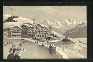 AK Beatenberg, Regina Hotel u. Eisbahn
