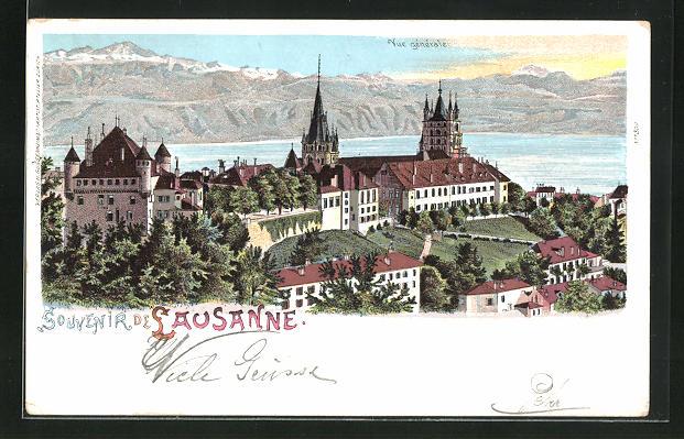 Lithographie Lausanne, Vue generale