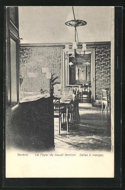 AK Genève, Le Foyer du travail feminin, Salles à manger, Speisesaal