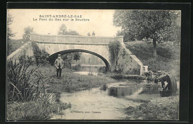 AK Saint-Andre-le-Gaz, Le Pont du Gaz sur la Bourbre 0