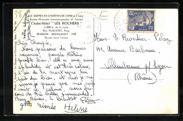 AK Le Sappey-en-Chartreuse, Chalet-Hotel Les Rochers 1
