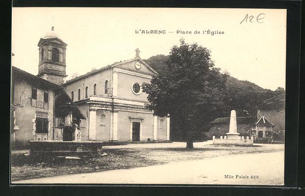 AK L'Albenc, Place de l'Eglise 0