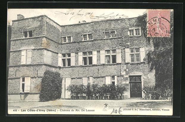 AK Les Cotes-d'Arey, Chateau de Mr. De Leusse 0