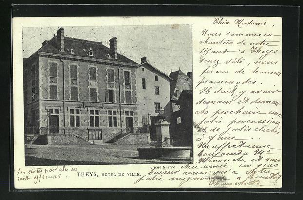 Mondschein-AK Theys, Hotel de Ville 0