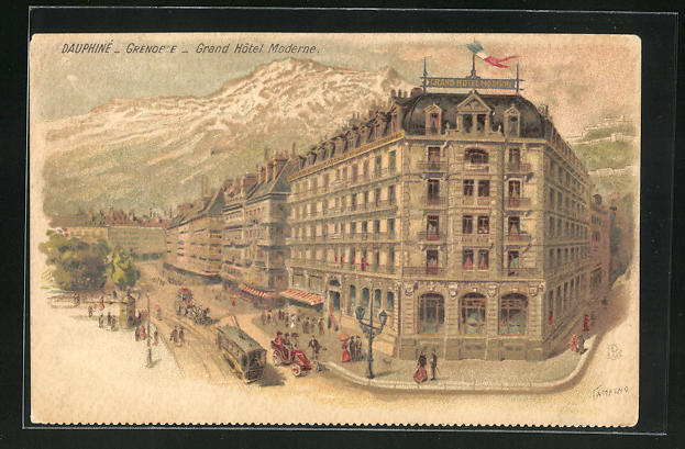 Lithographie Grenoble, Grand Hotel Moderne 0