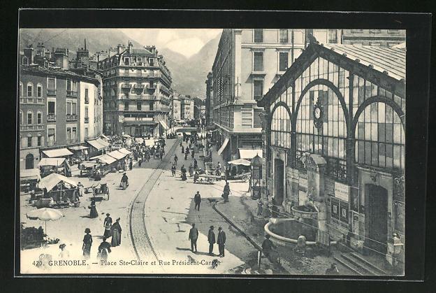 AK Grenoble, Place Ste-Claire et Rue President-Carnot 0