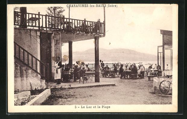 AK Charavines-les-Bains, Le Lac et la Plage 0