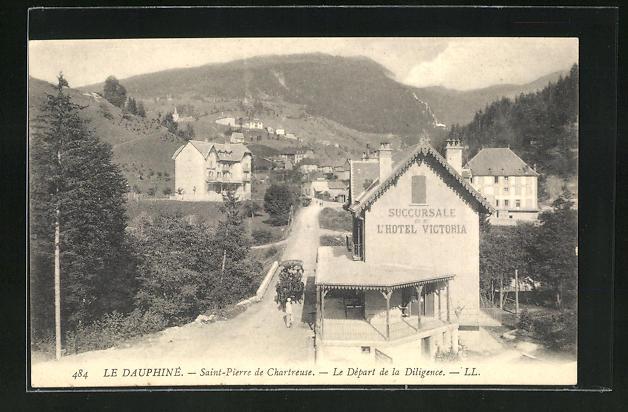 AK Saint-Pierre-de-Chartreuse, Le Depart de la Diligence 0