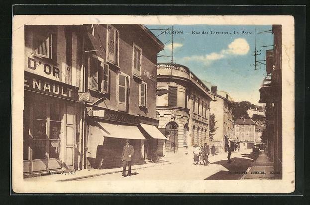 AK Voiron, Rue des Terreaux, La Poste