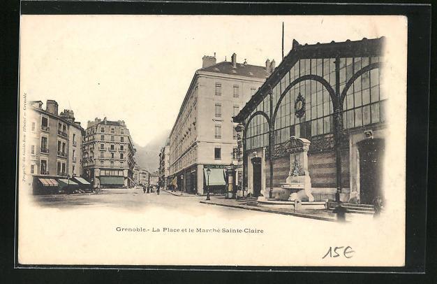 AK Grenoble, La Place et le Mrche Sainte-Claire 0