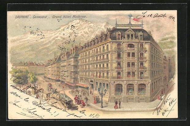 Lithographie Grenoble, Grand Hotel Moderne
