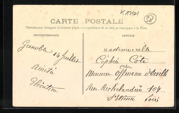 AK Grenoble, Halle et Marche, Place Sainte-Claire 1