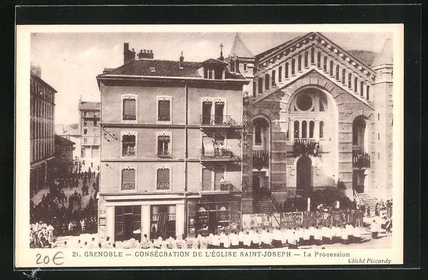 AK Grenoble, Consecration de l`Eglise Saint-Joseph, La Procession 0