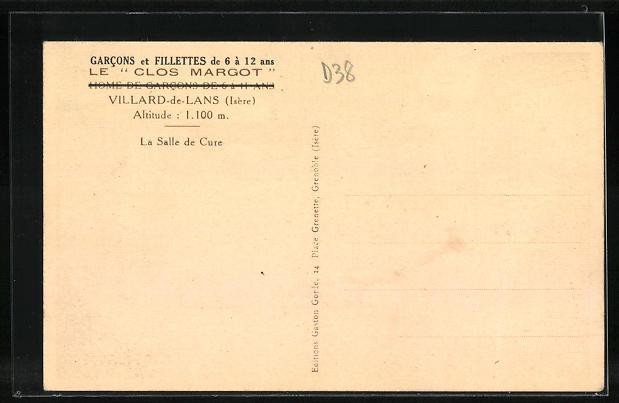 AK Villard-de-Lans, Le Clos Margot, La Salle de Cure, Innenansicht 1