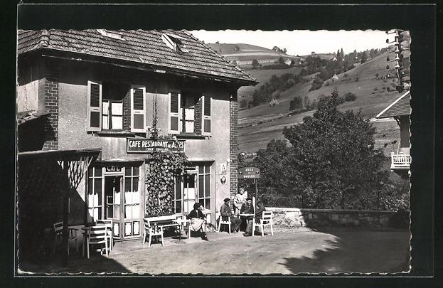 AK Revel, Le Cafe-Restaurant des Alpes et le Mont 0