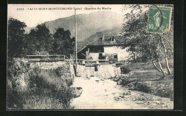 AK Saint-Mury-Monteymond, Quartier du Moulin 0