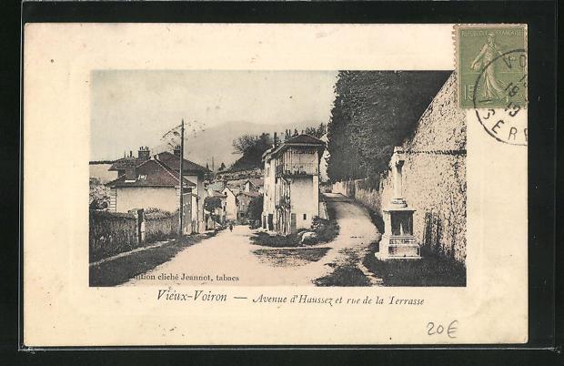 AK Vieux-Voiron, Avenue d'Haussez et rue de la Terrasse 0