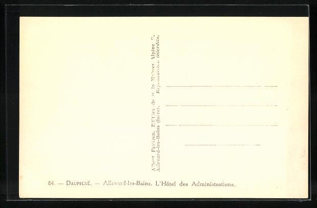 AK Allevard-les-Bains, L'Hotel des Administrations 1