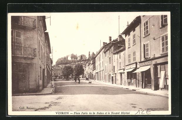 AK Voiron, Place Porte de la Buisse et le Nouvel Hopital