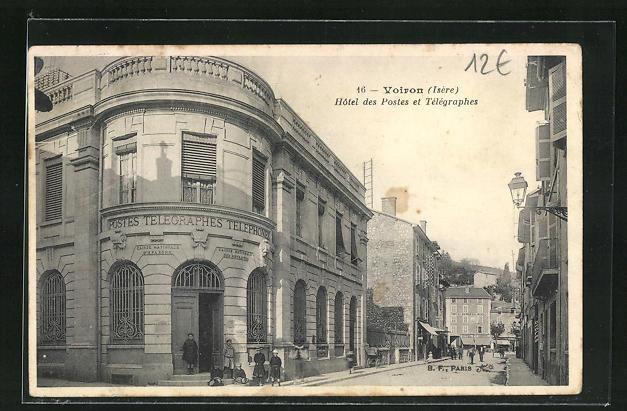 AK Voiron, Hotel des Postes et Telegraphes