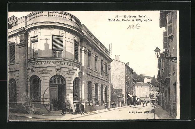AK Voiron, Hotel des Postet et Telegraphes 0