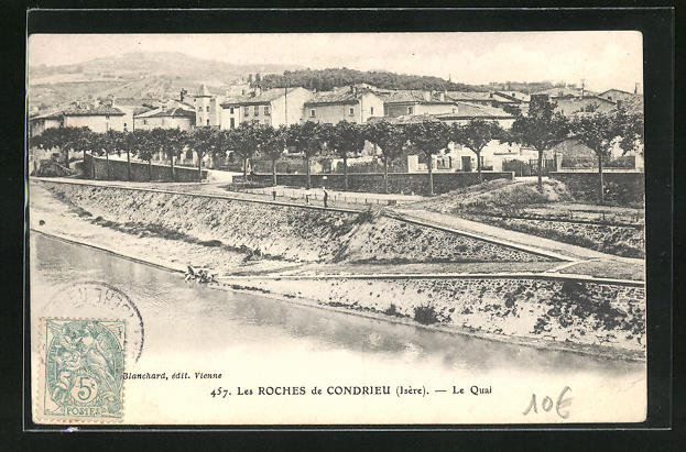 AK Les Roches-de-Condrieu, Le Quai 0