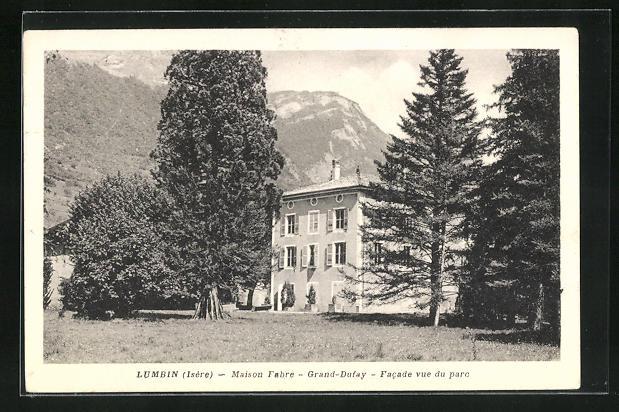 AK Lumbin, Maison Fabre, Grand-Dufay, Facade vue du parc 0