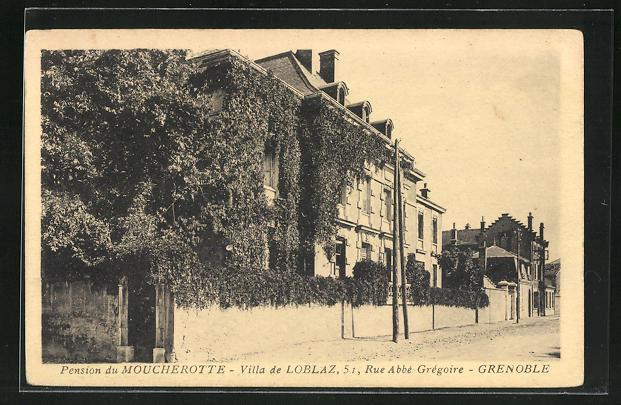 AK Grenoble, Pension du Moucherotte, Villa de Loblaz, 51, Rue Abbe Gregoire 0