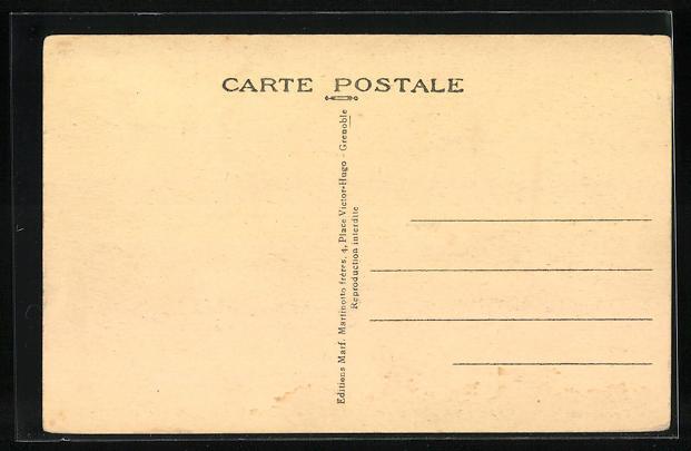 AK Grenoble, Pension du Moucherotte, Villa de Loblaz, 51, Rue Abbe Gregoire 1