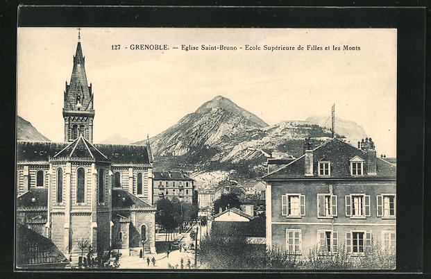 AK Grenoble, Eglise Saint-Bruno, Ecole Superieure de Filles et les Monts 0