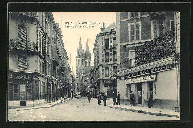 AK Voiron, Rue Adolphe-Peronnet, Strassenpartie 0