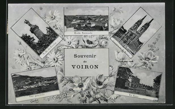 Passepartout-AK Voiron, Ecole Nationale, La Gare, N. -D. -de-Vouise 0
