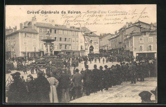AK Voiron, Greve Generale, Sortie d`une Conference