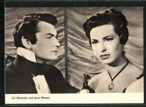 AK Schauspieler Lia Amanda und Jean Marais in Der Graf von Monte Christo