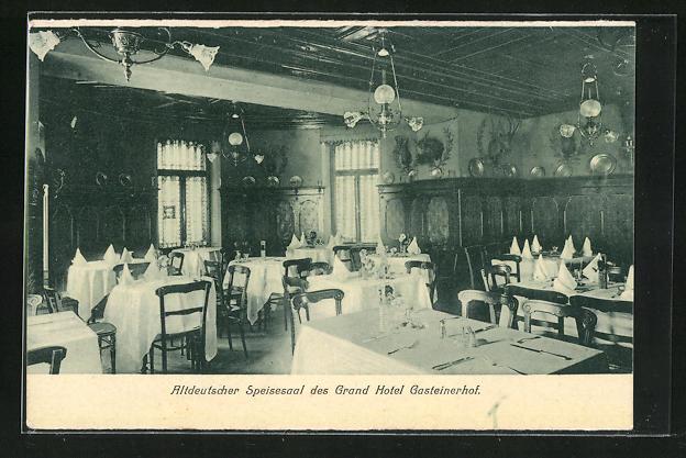 AK Bad Gastein, Alterdeutscher Speisesaal des Grand Hotel Gasteinerhof